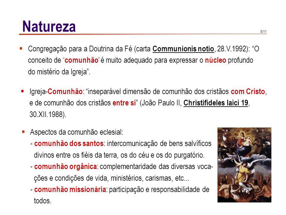 A IGREJA, SACRAMENTO DE COMUNHÃO: