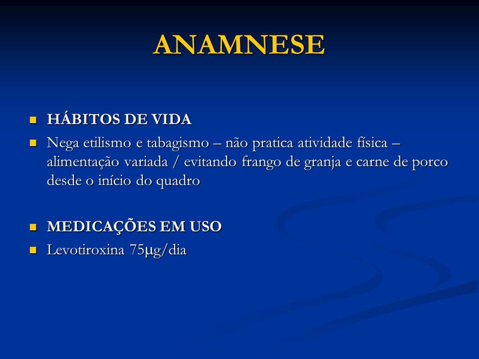 ANAMNESE HÁBITOS DE VIDA