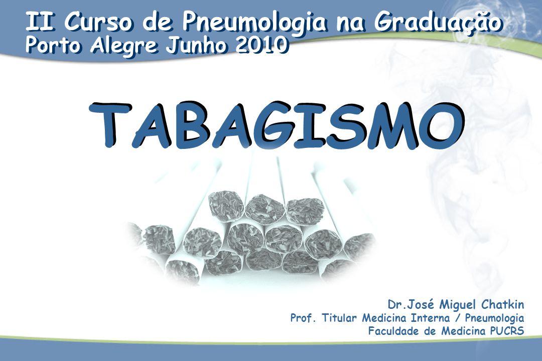 TABAGISMO II Curso de Pneumologia na Graduação Porto Alegre Junho 2010