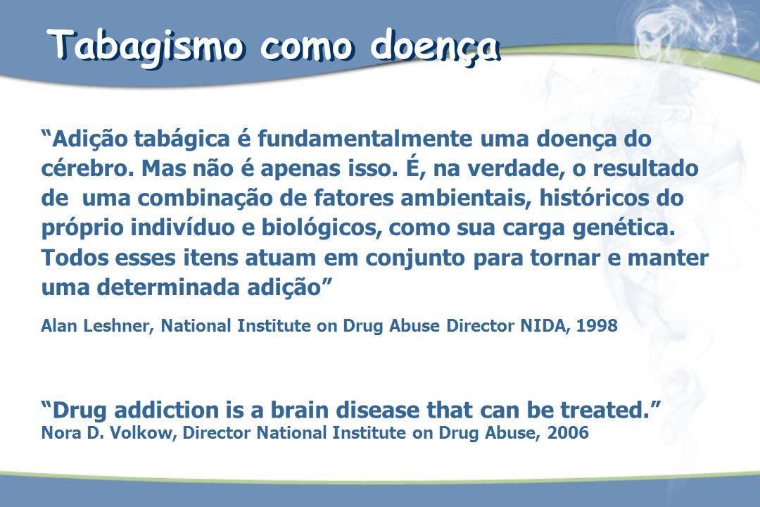 Adição tabágica é fundamentalmente uma doença do cérebro