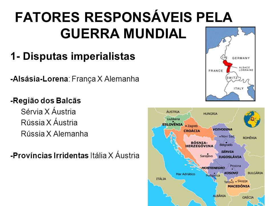 FATORES RESPONSÁVEIS PELA GUERRA MUNDIAL