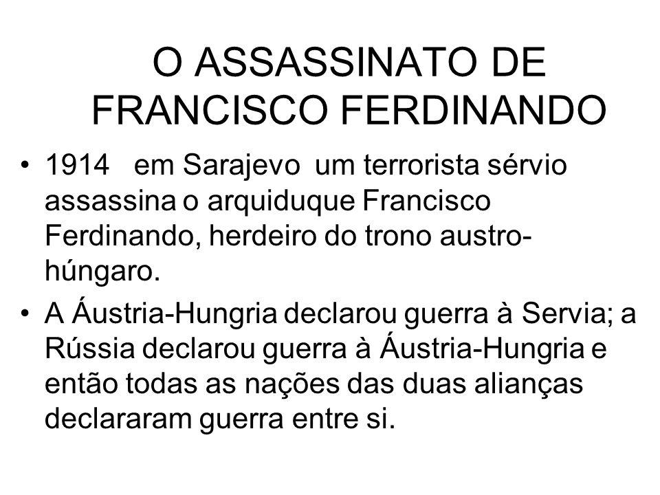 O ASSASSINATO DE FRANCISCO FERDINANDO