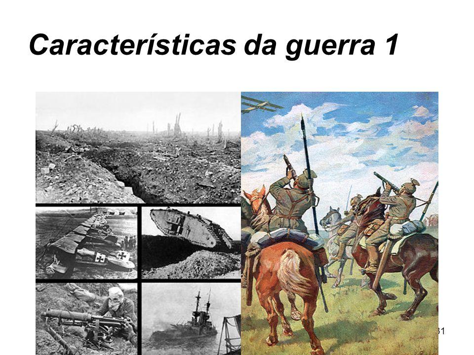 Características da guerra 1