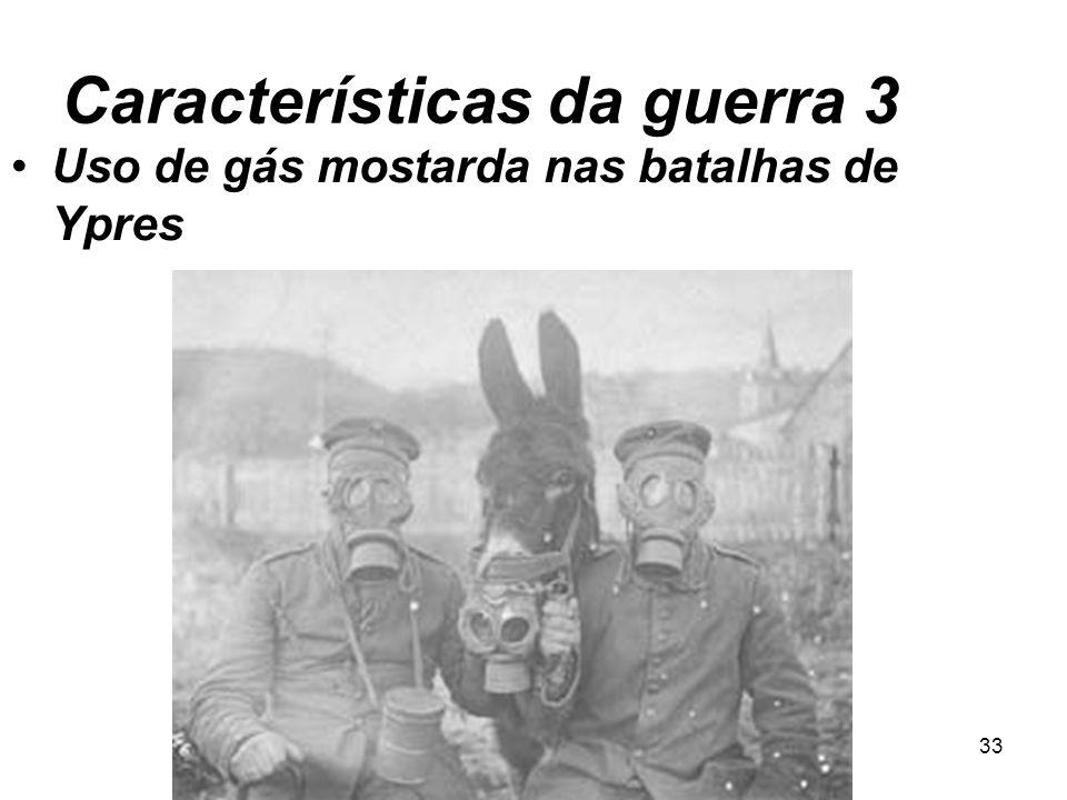 Características da guerra 3