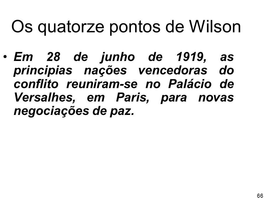 Os quatorze pontos de Wilson
