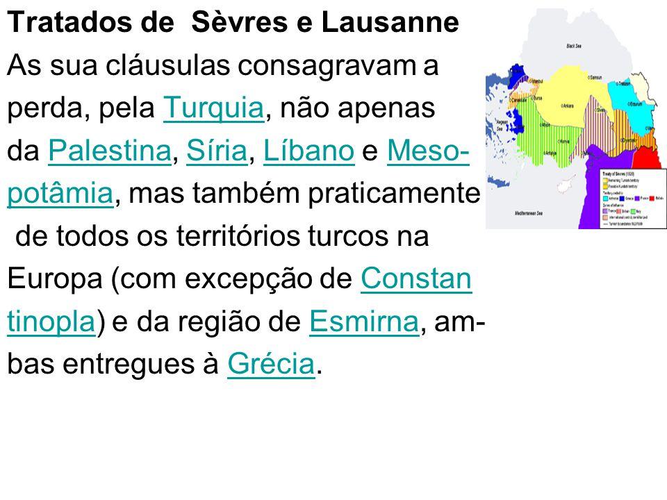 Tratados de Sèvres e Lausanne
