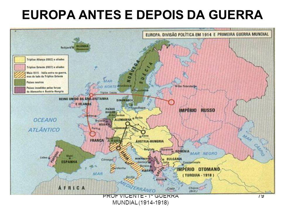 EUROPA ANTES E DEPOIS DA GUERRA