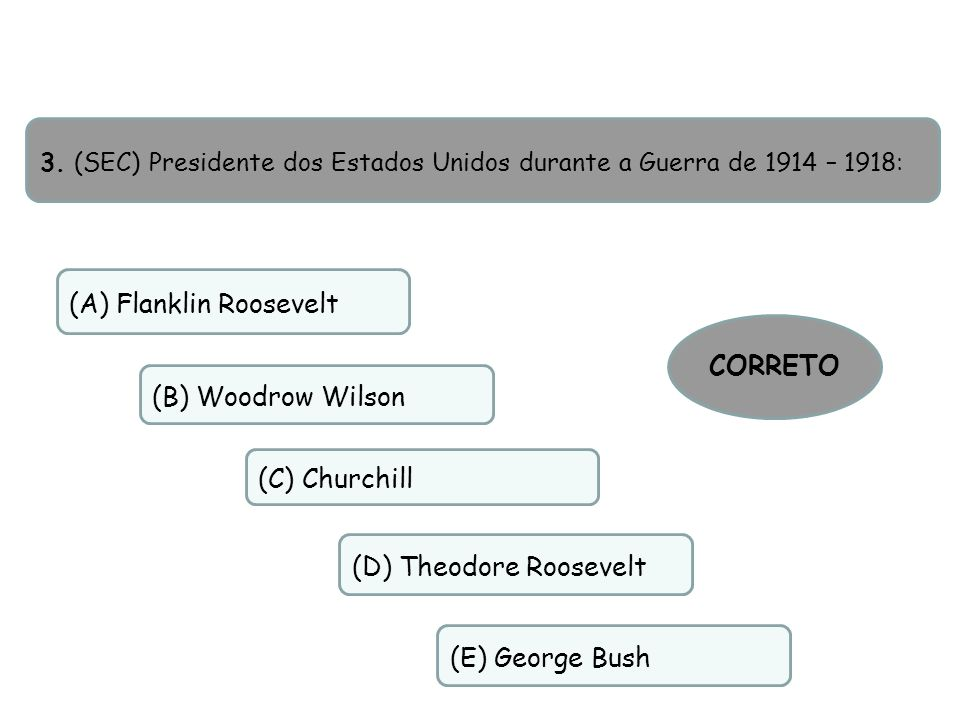 (A) Flanklin Roosevelt
