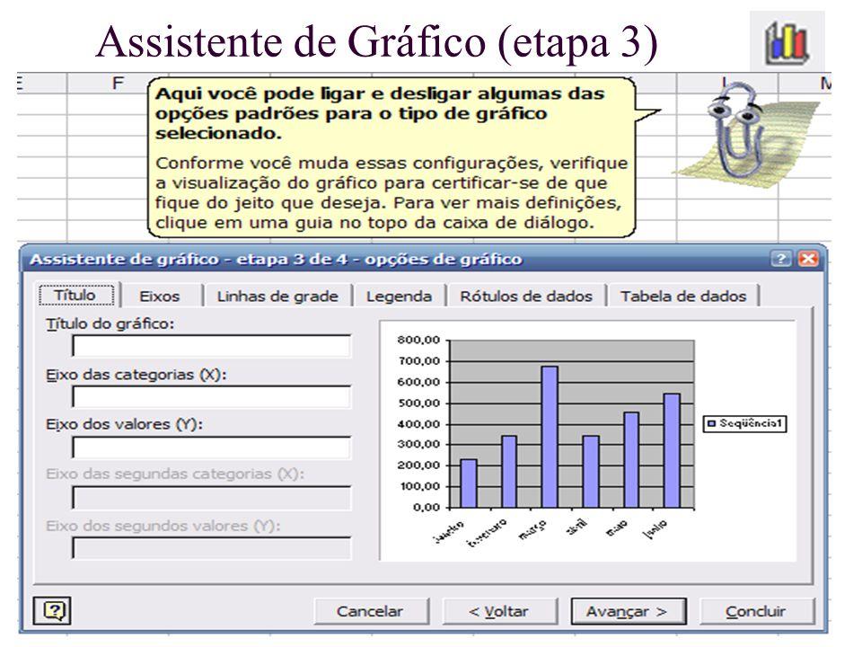 Assistente de Gráfico (etapa 3)