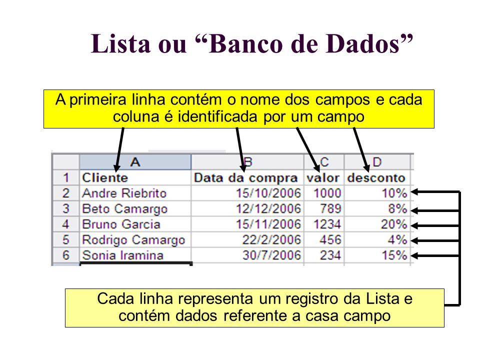 Lista ou Banco de Dados