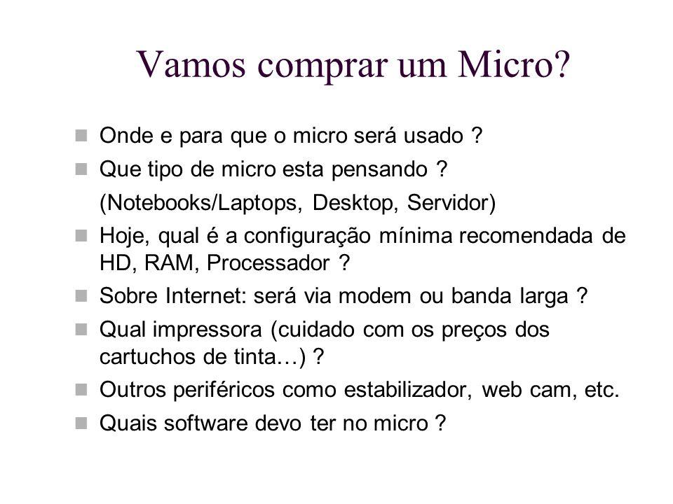 Vamos comprar um Micro Onde e para que o micro será usado