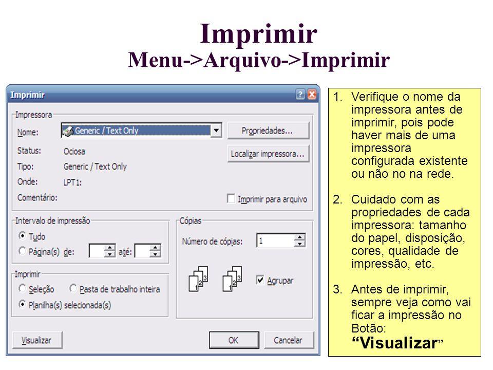Imprimir Menu->Arquivo->Imprimir