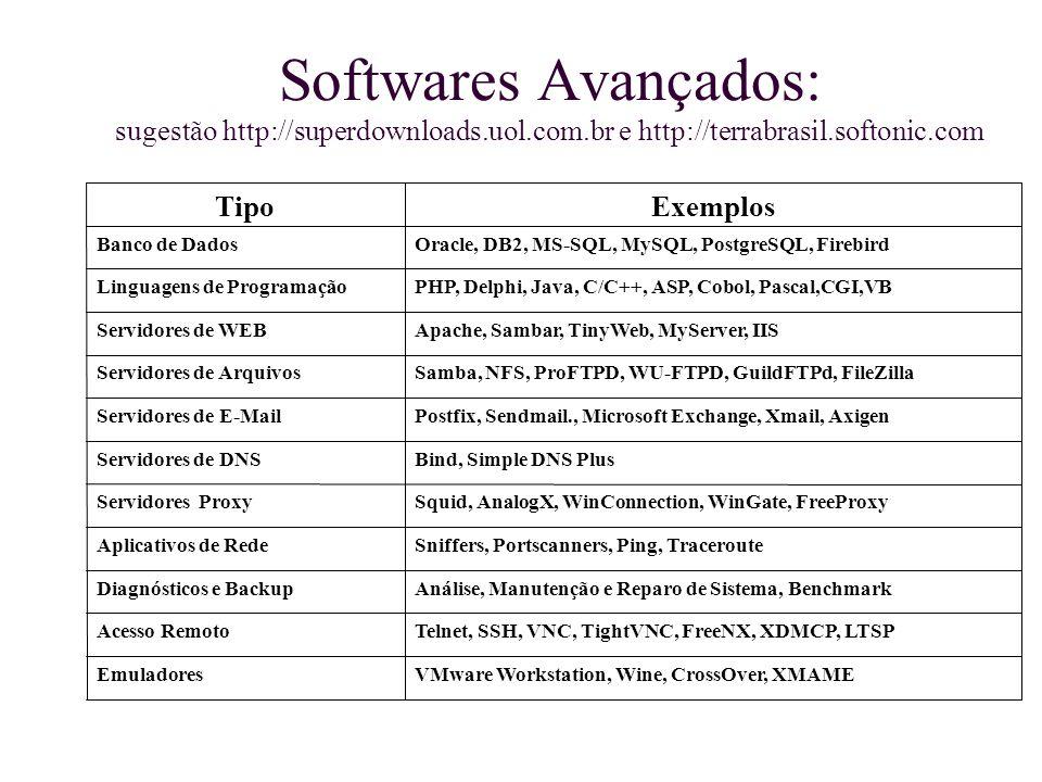 Softwares Avançados: sugestão http://superdownloads. uol. com