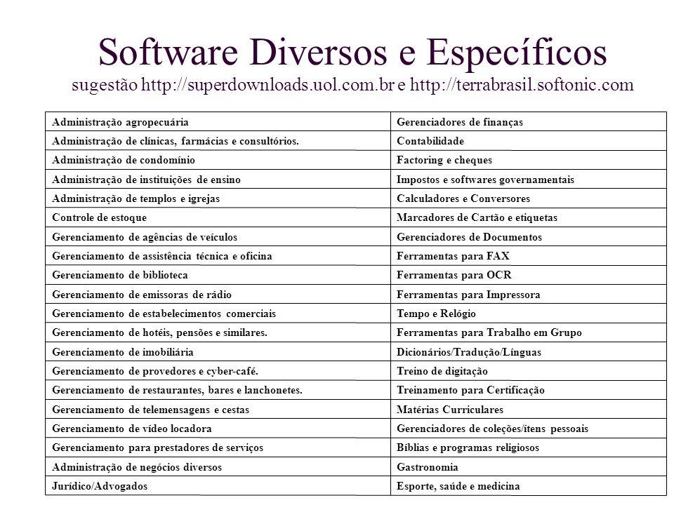 Software Diversos e Específicos sugestão http://superdownloads. uol