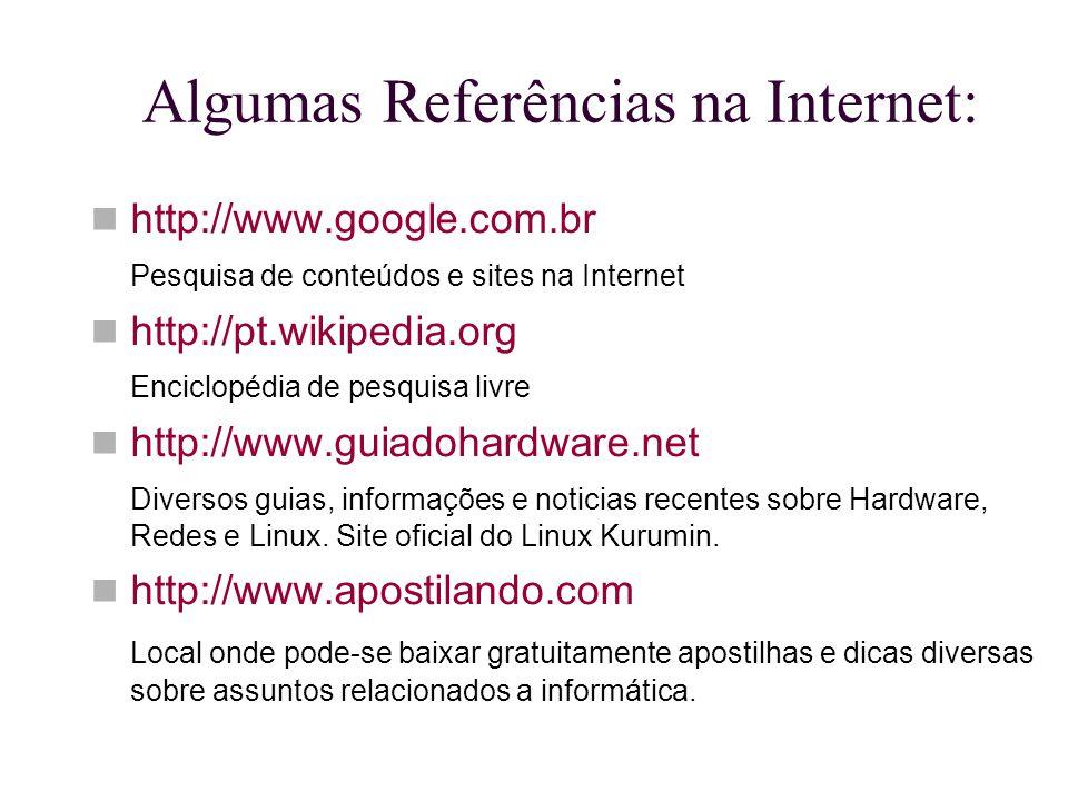 Algumas Referências na Internet: