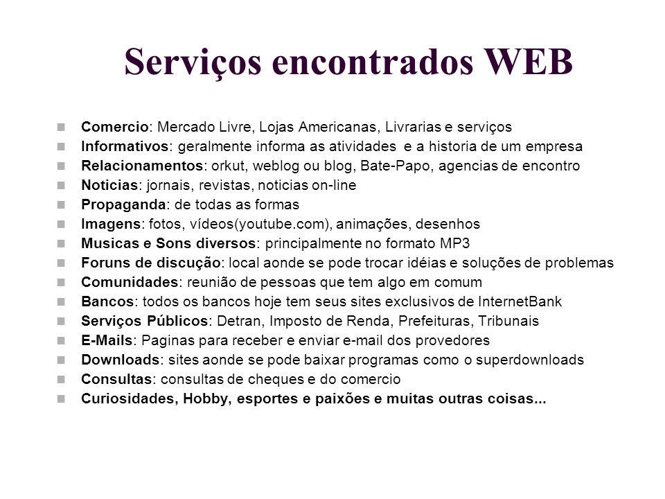Serviços encontrados WEB