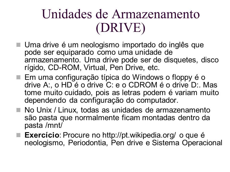Unidades de Armazenamento (DRIVE)