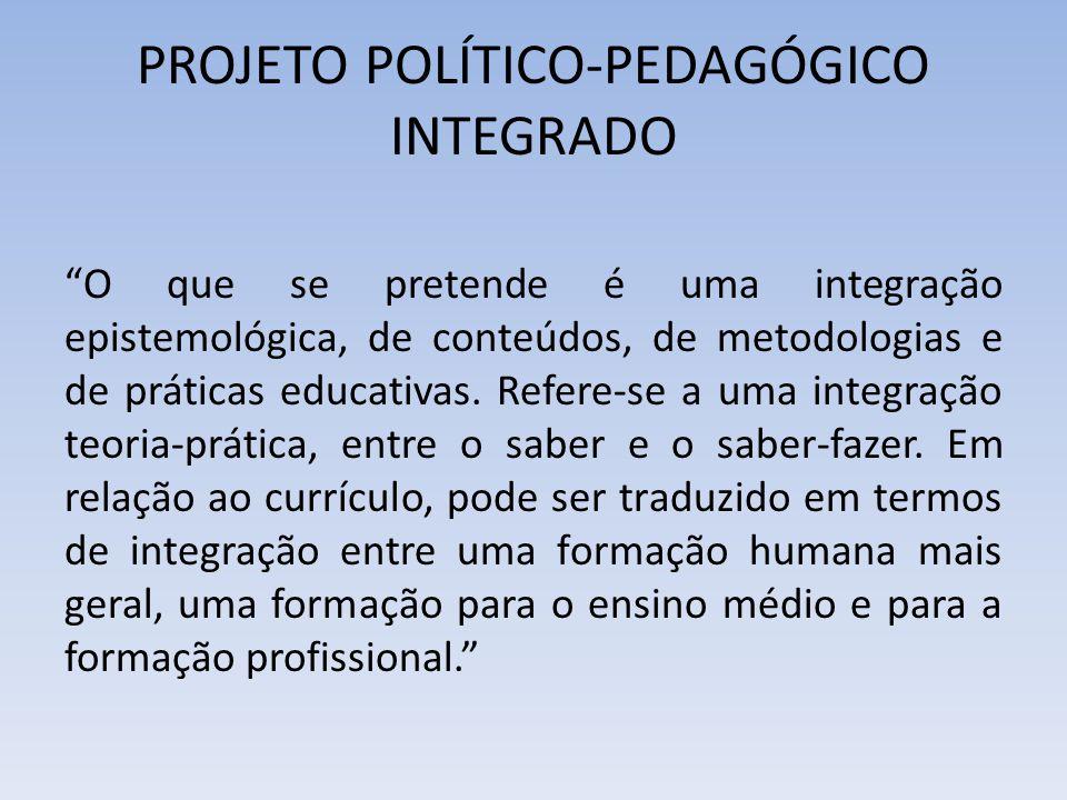 PROJETO POLÍTICO-PEDAGÓGICO INTEGRADO