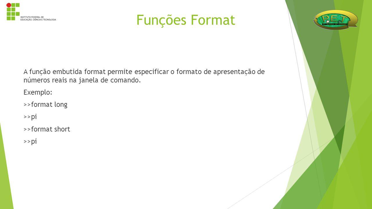 Funções Format
