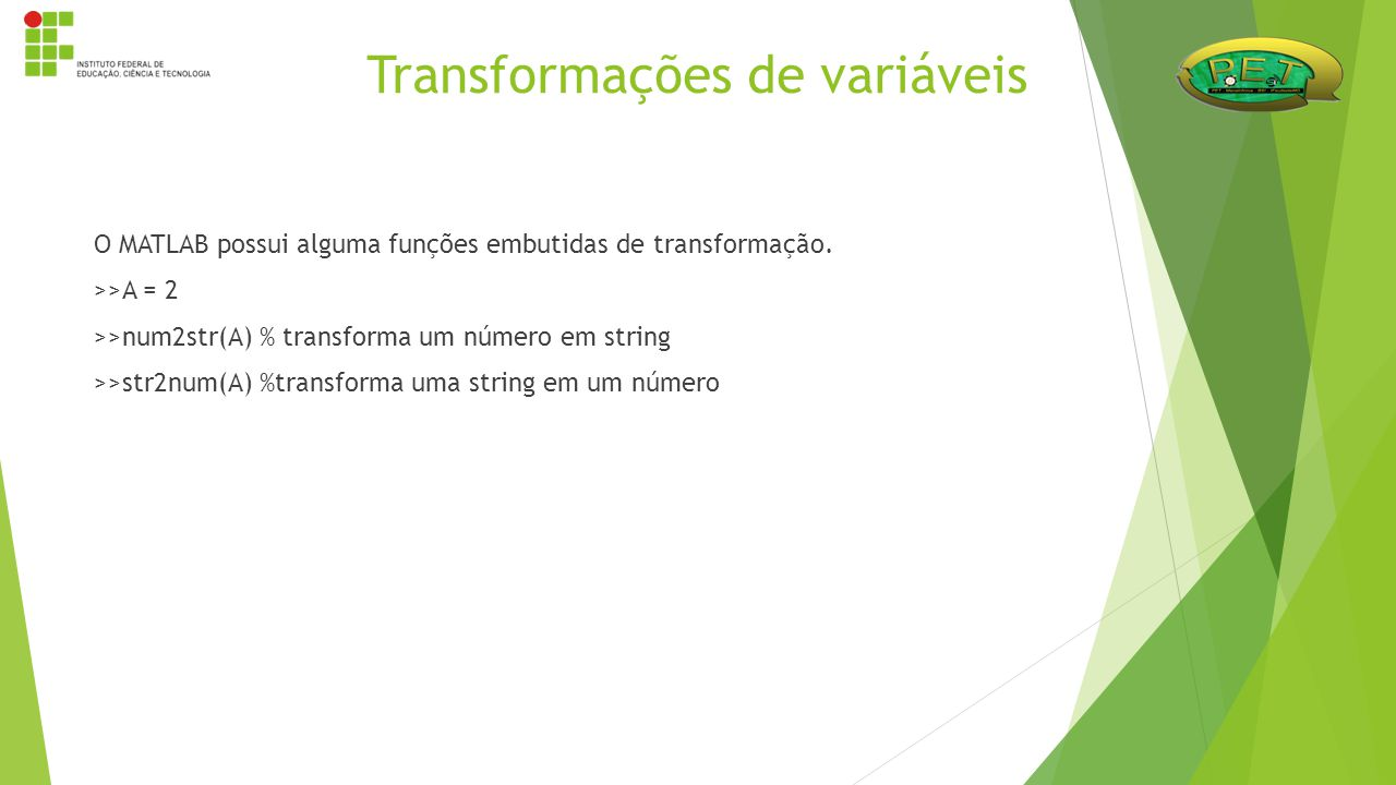 Transformações de variáveis