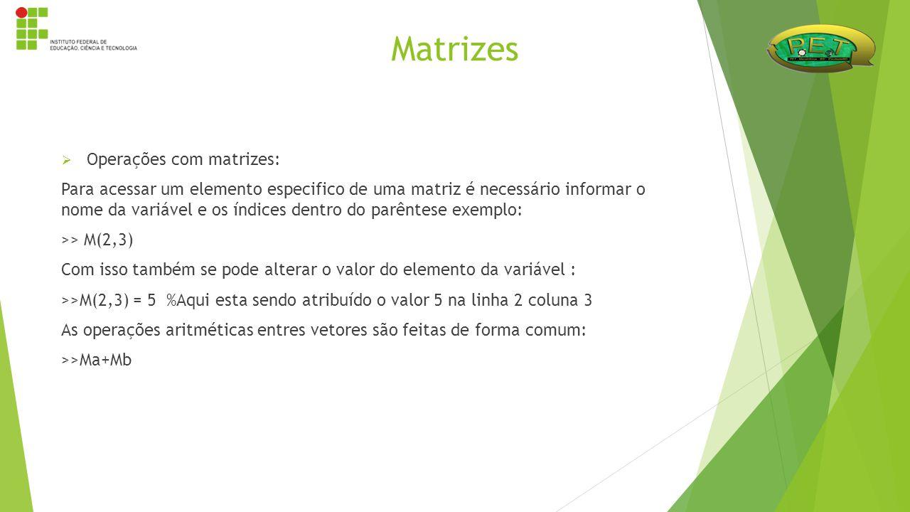 Matrizes Operações com matrizes: