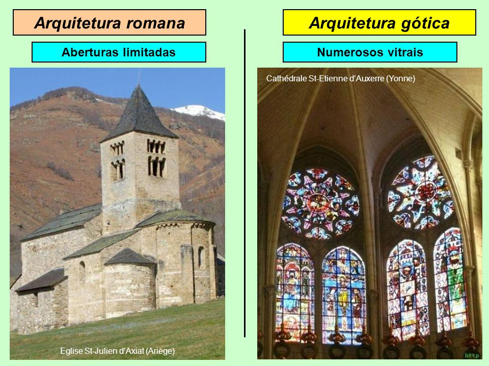 Arquitetura romana Arquitetura gótica