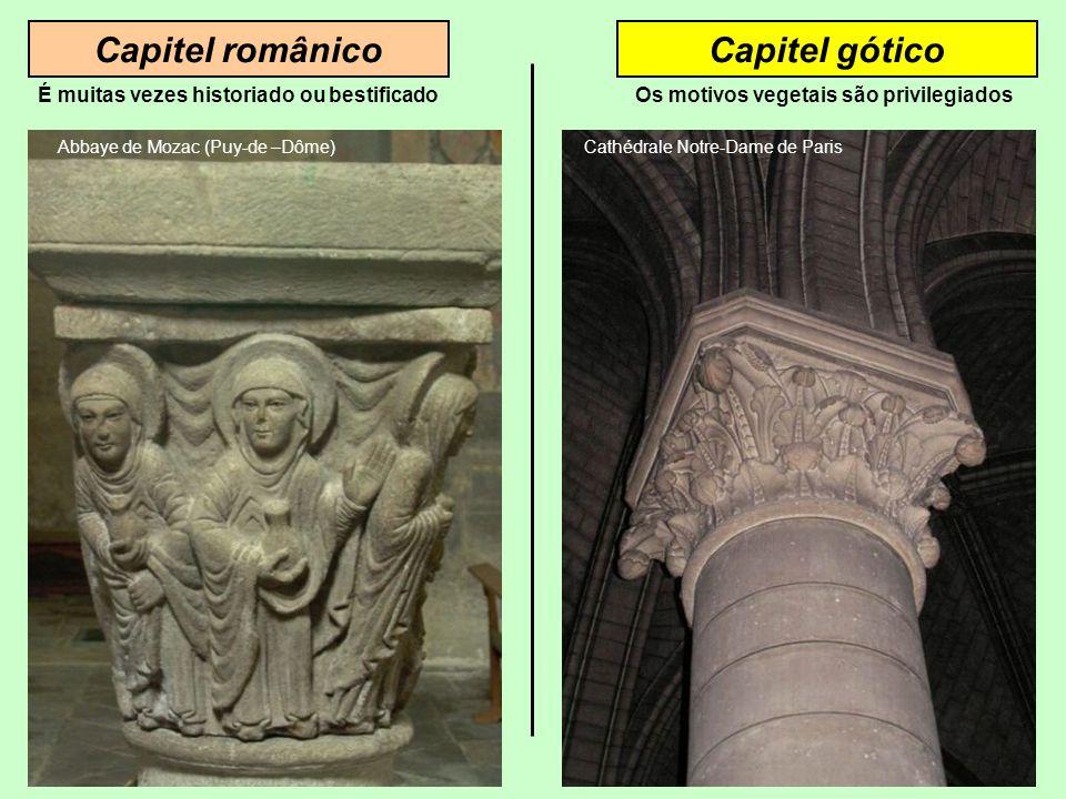 Capitel românico Capitel gótico