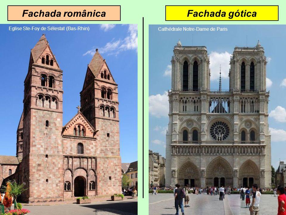 Fachada românica Fachada gótica