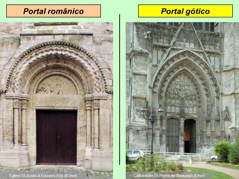 Portal românico Portal gótico