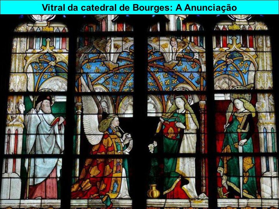 Vitral da catedral de Bourges: A Anunciação