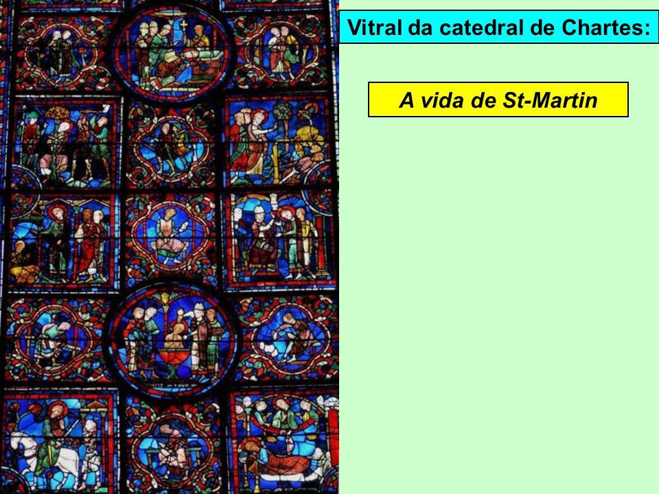 Vitral da catedral de Chartes: