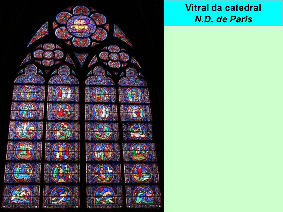 Vitral da catedral N.D. de Paris