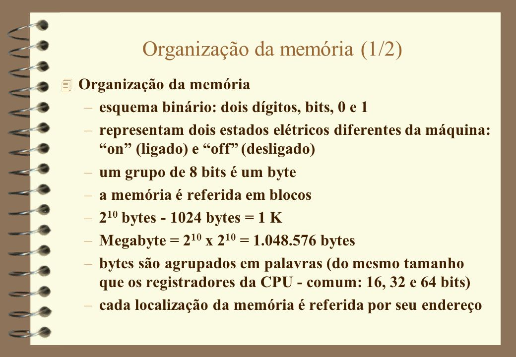 Organização da memória (1/2)