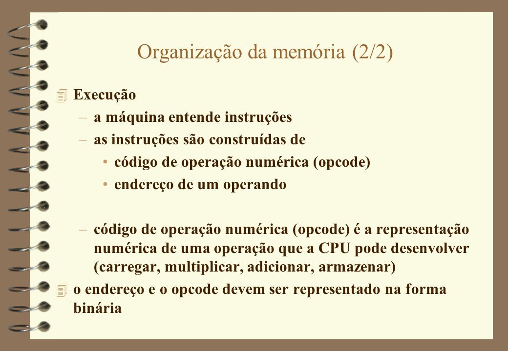 Organização da memória (2/2)