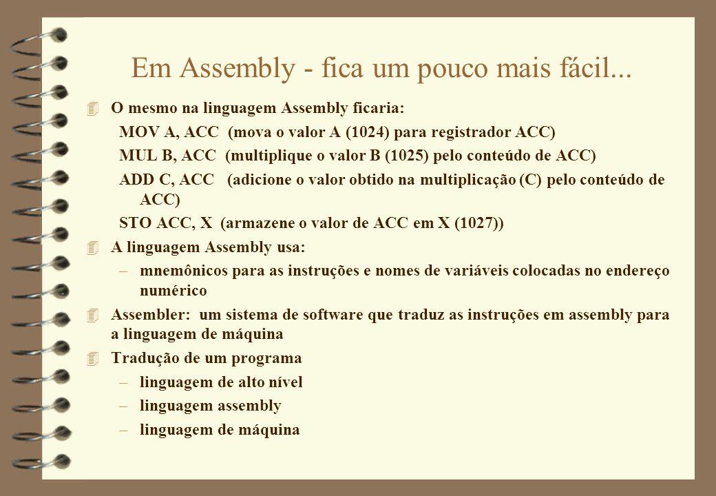 Em Assembly - fica um pouco mais fácil...