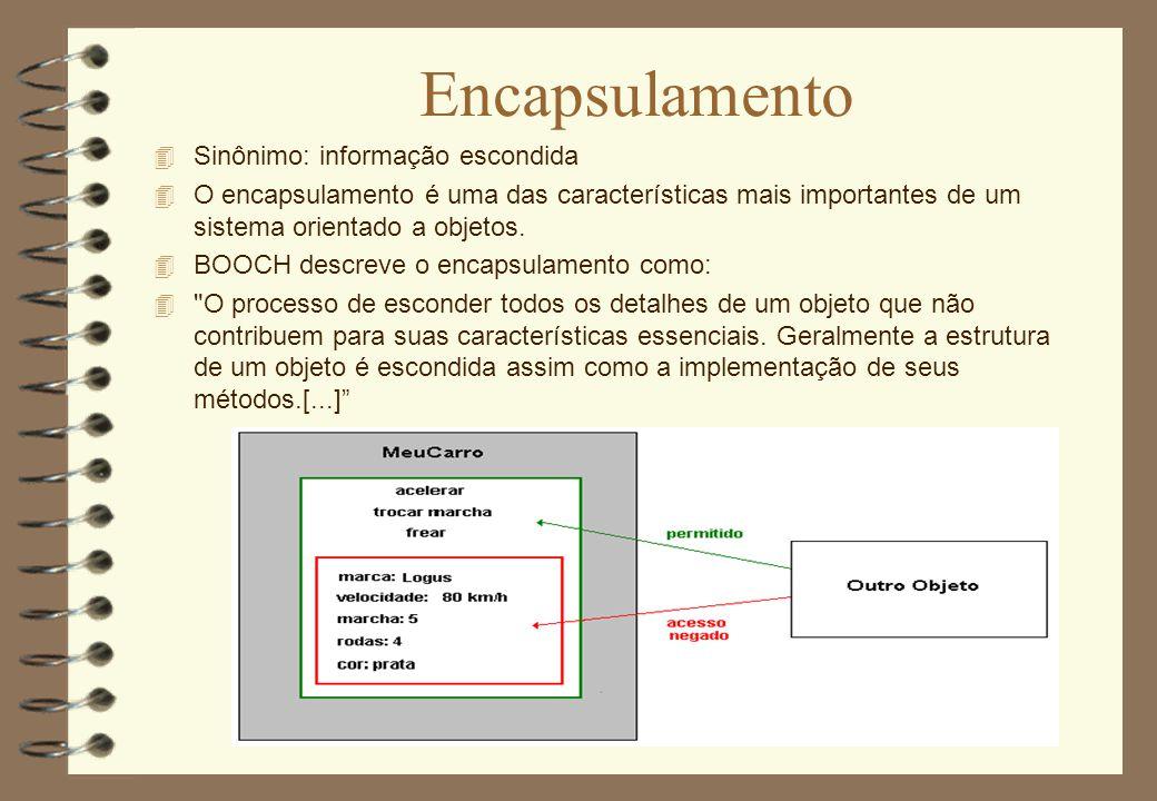 Encapsulamento Sinônimo: informação escondida
