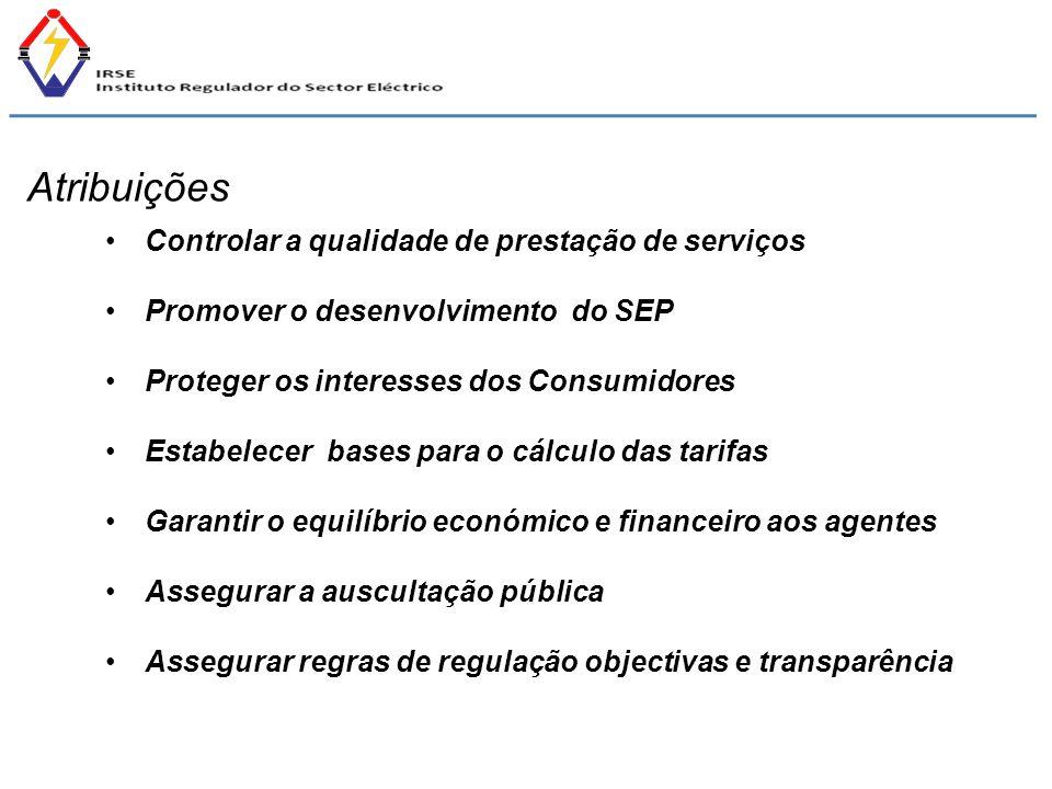 Atribuições Controlar a qualidade de prestação de serviços