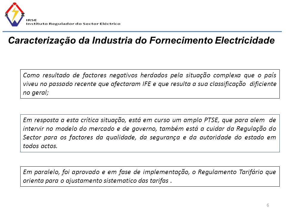 Caracterização da Industria do Fornecimento Electricidade