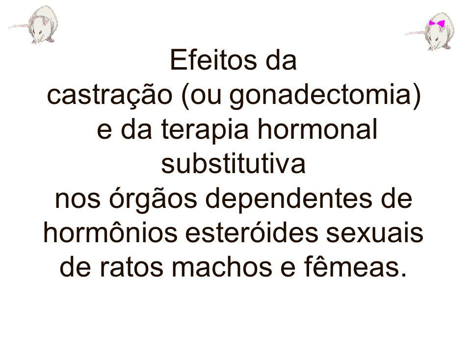castração (ou gonadectomia) e da terapia hormonal substitutiva