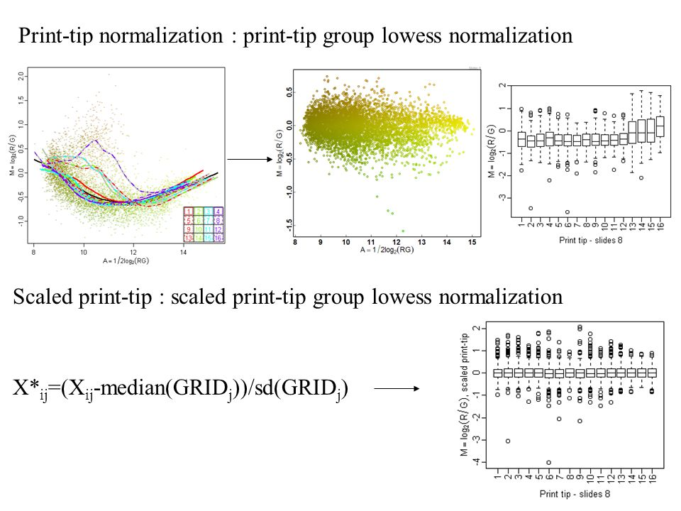 Print-tip normalization : print-tip group lowess normalization