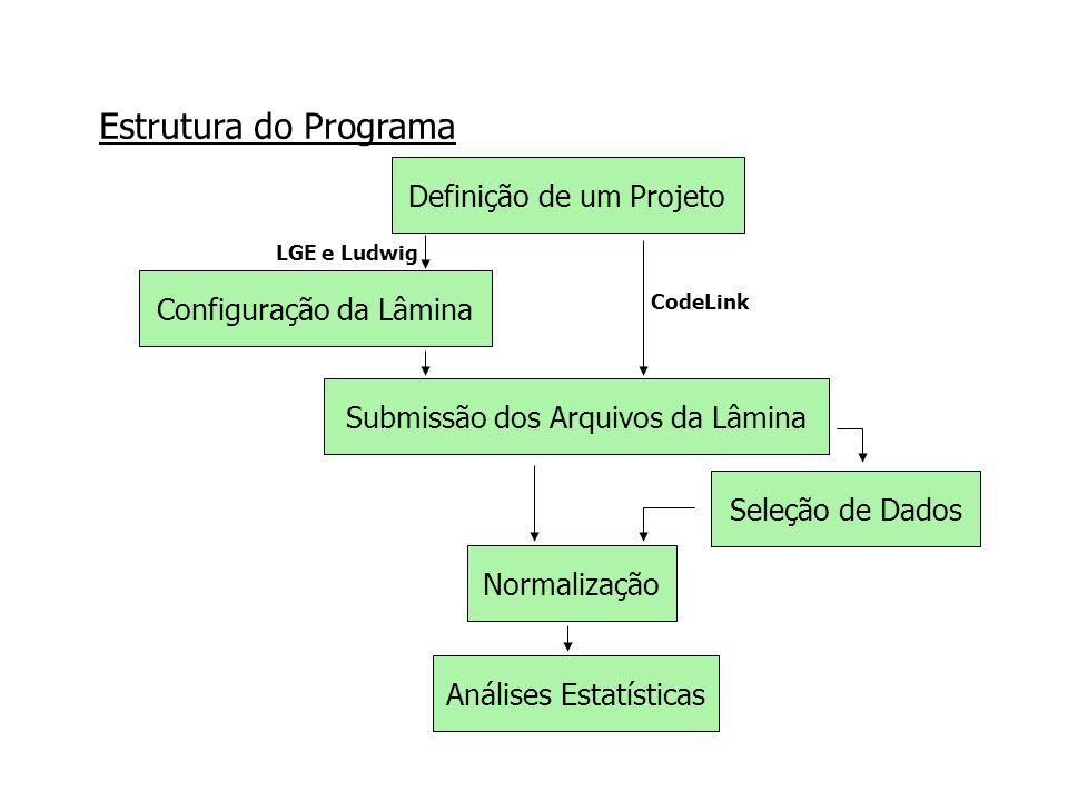 Estrutura do Programa Definição de um Projeto Configuração da Lâmina