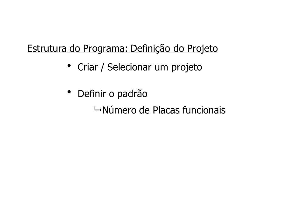 Estrutura do Programa: Definição do Projeto