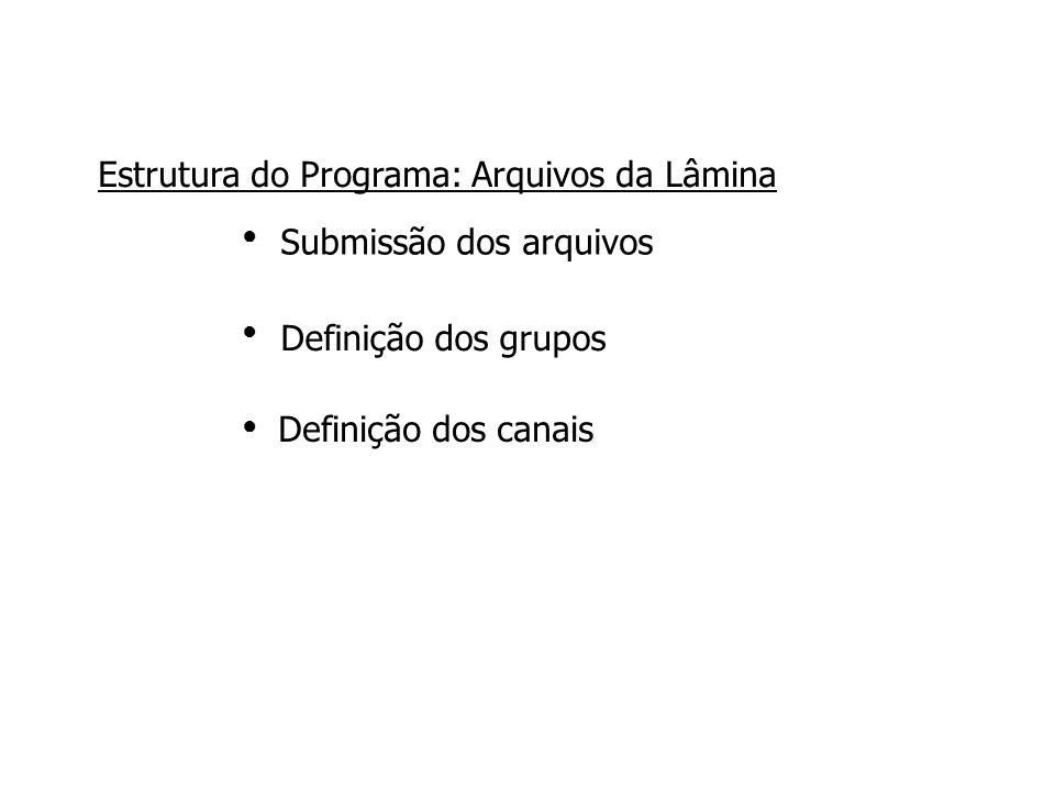 Estrutura do Programa: Arquivos da Lâmina