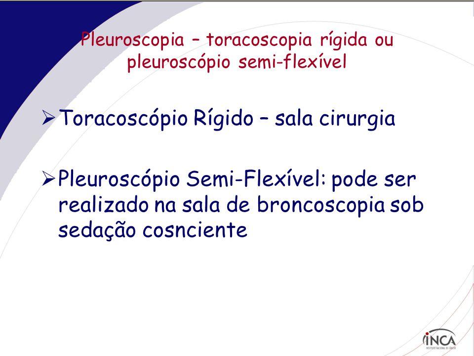 Pleuroscopia – toracoscopia rígida ou pleuroscópio semi-flexível