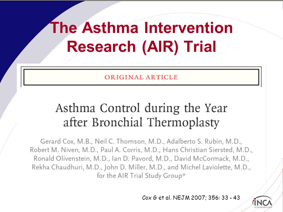 The Asthma Intervention Research (AIR) Trial