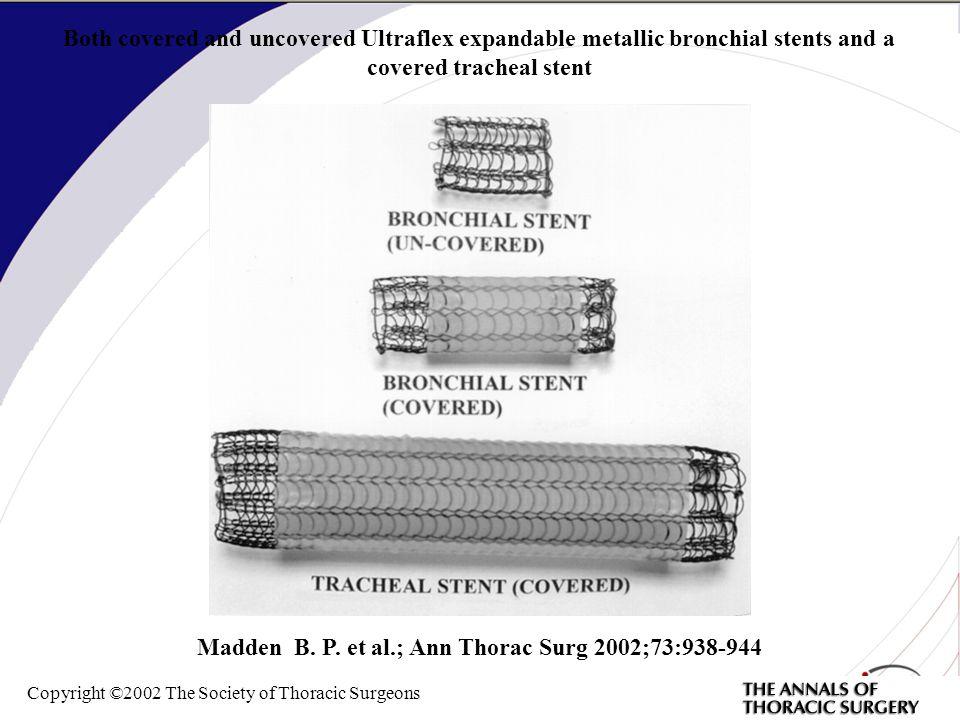 Madden B. P. et al.; Ann Thorac Surg 2002;73:938-944