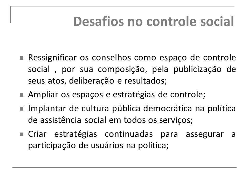 Desafios no controle social