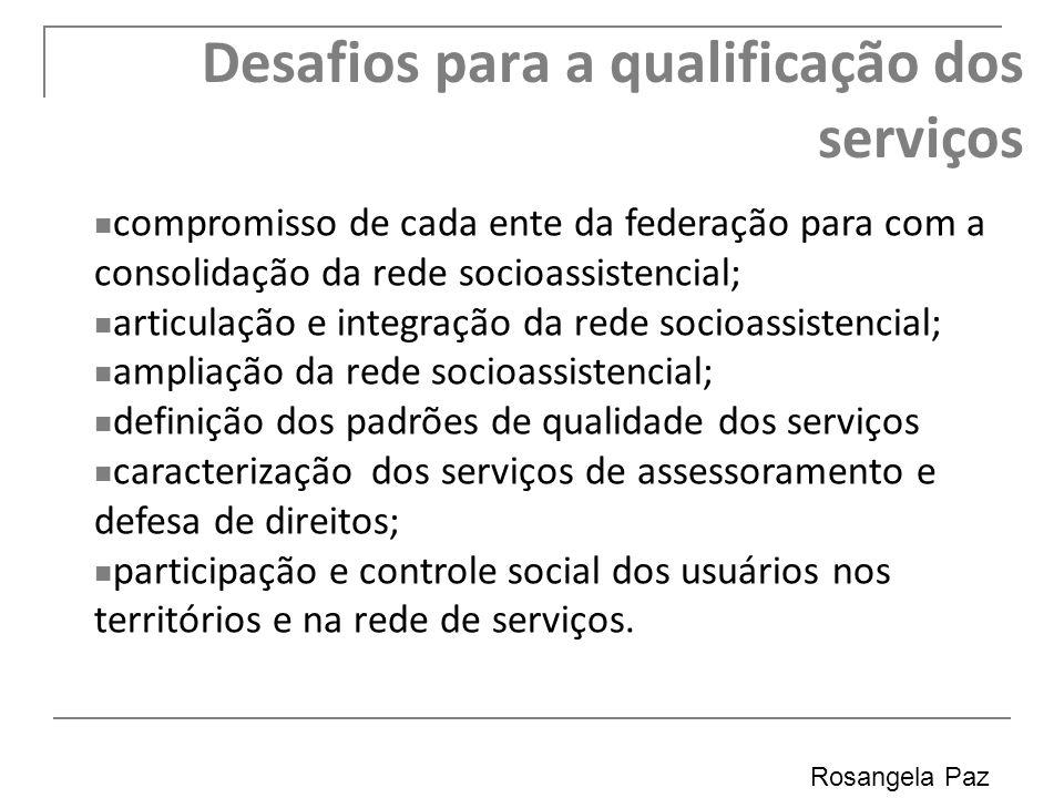 Desafios para a qualificação dos serviços
