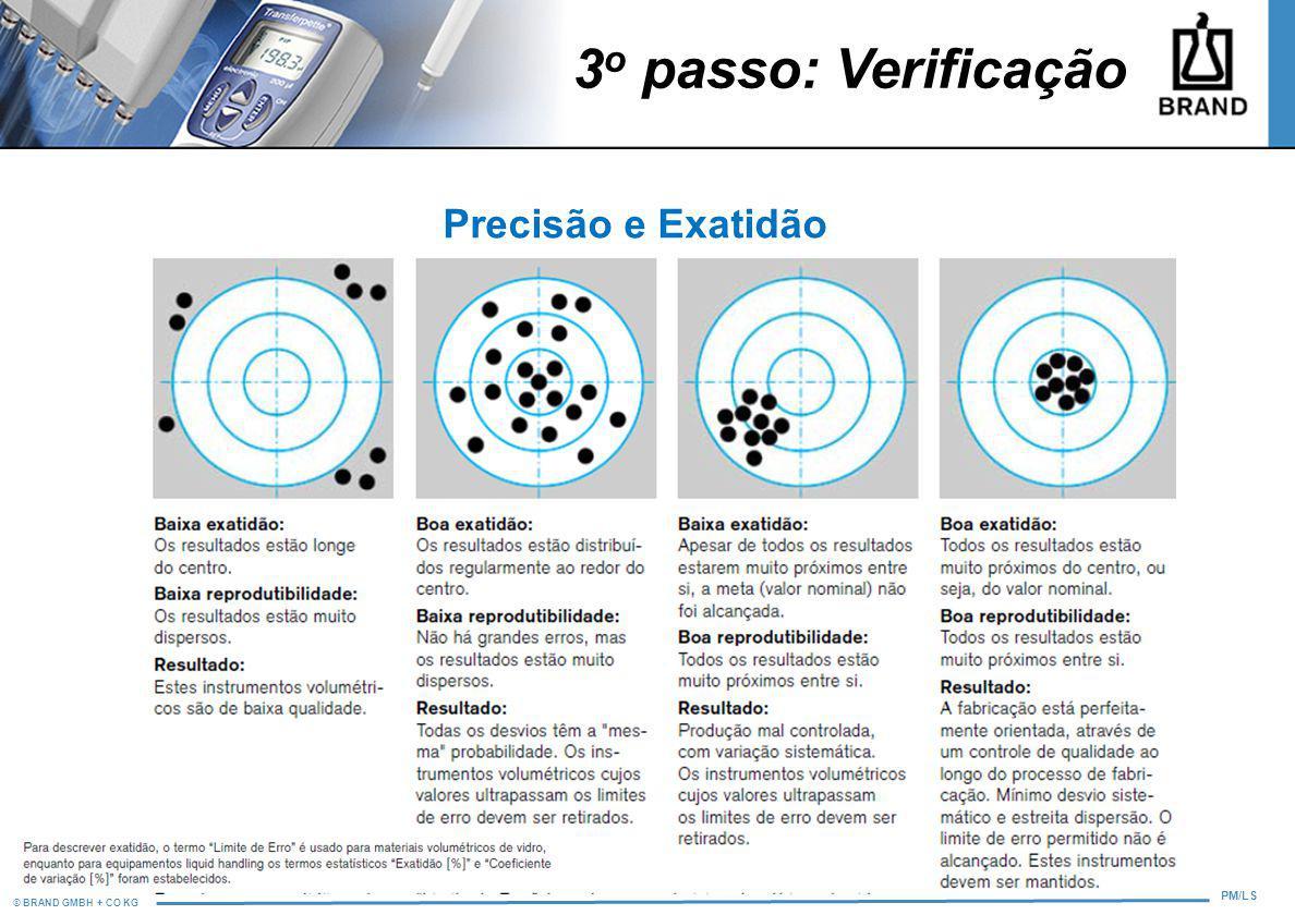 3o passo: Verificação Precisão e Exatidão 12 8
