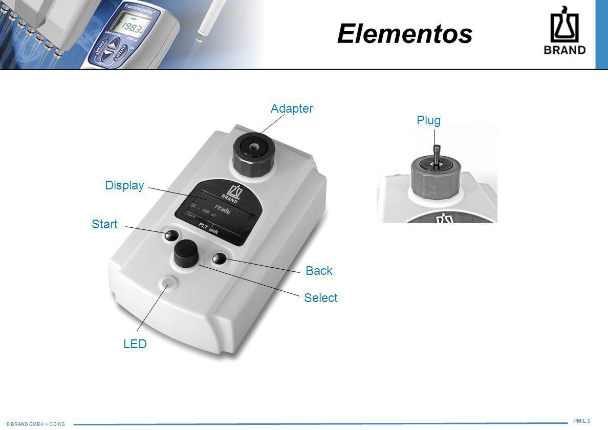 Elementos Adapter Plug Display Start Back Select LED 12 8
